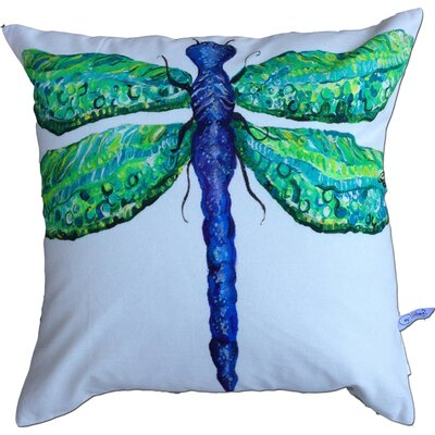 Dragonfly Cotton Throw Pillow