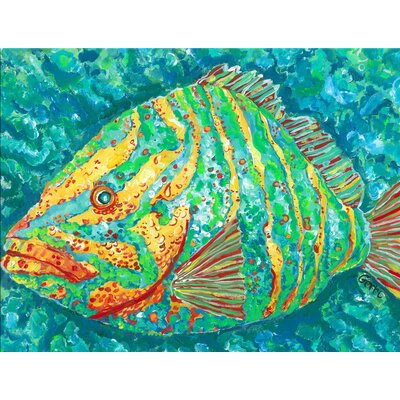 Striped Grouper Kitchen Mat