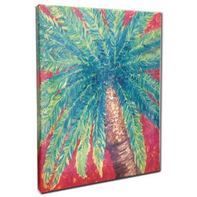 "My Island Palm Tree Mounted by Giclee Gerri Hyman Painting Print n Canvas - Size: 20"" H x 16"" W x 1.5"" ..."