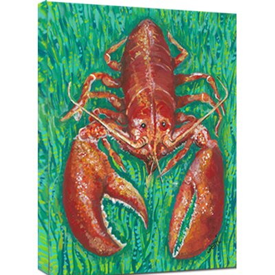 Lobster Mounted by Gerri Hyman Painting Print on Canvas LB1216C