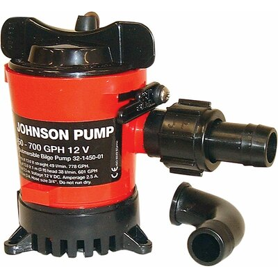 1250GPH Cartridge Bilge Pump GPH: 500