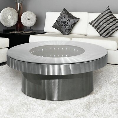 Jon Gilmore Coffee Table Color: Brushed Aluminum