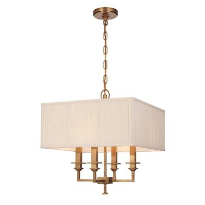 Eldorado 4-Light Shaded Chandelier Finish: Aged Brass