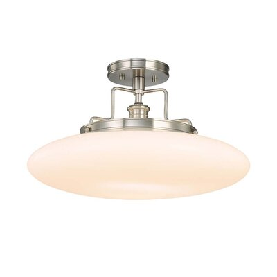 Maryellen 18 1-Light Semi Flush Mount Finish: Satin Nickel