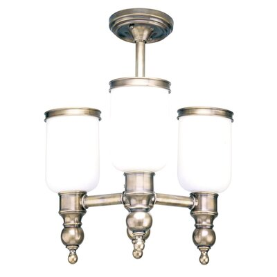 Elma 3-Light Semi Flush Mount Finish: Polished Nickel