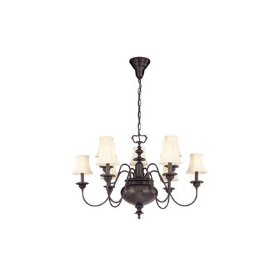 Ellington 9-Light Shaded Chandelier Finish: Polished Nickel
