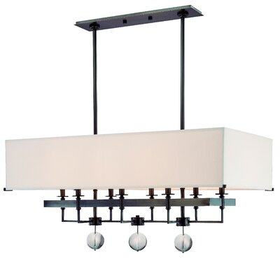 Emsley 8-Light Kitchen Island Pendant Finish: Old Bronze
