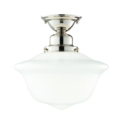 Karen 1-Light Semi-Flush Mount Finish: Polished Nickel