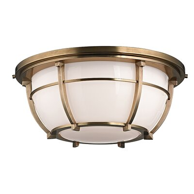 Argie 3-Light Flush Mount Finish: Aged Brass
