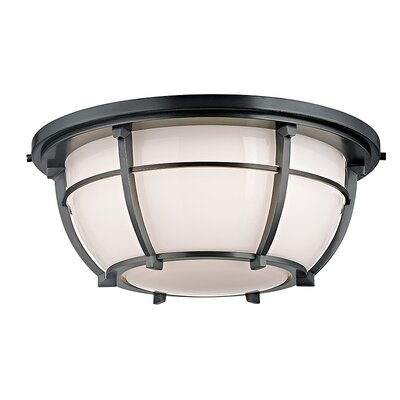 Argie 3-Light Flush Mount Finish: Aged Zinc
