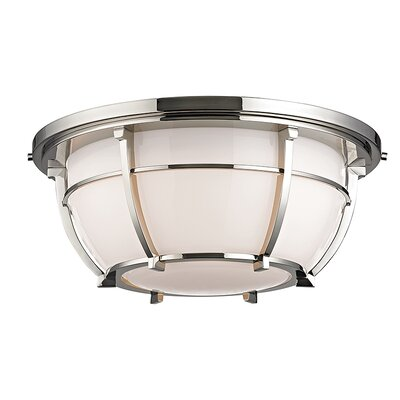 Argie 3-Light Flush Mount Finish: Polished Nickel