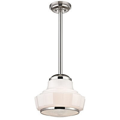 Odessa 1-Light Mini Pendant Finish: Polished Nickel, Size: 70.5 H x 13.5 W