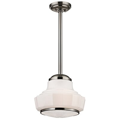 Kobe 1-Light Mini Pendant Finish: Satin Nickel, Size: 70.5 H x 13.5 W