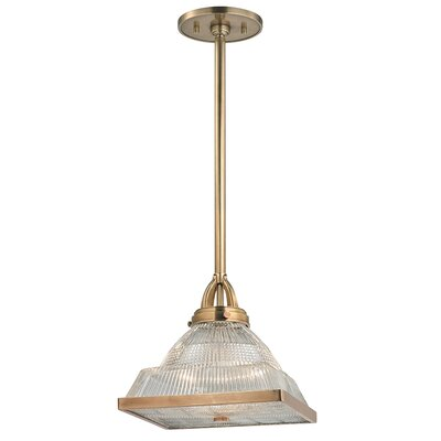 Eldon 1-Light Mini Pendant Finish: Aged Brass