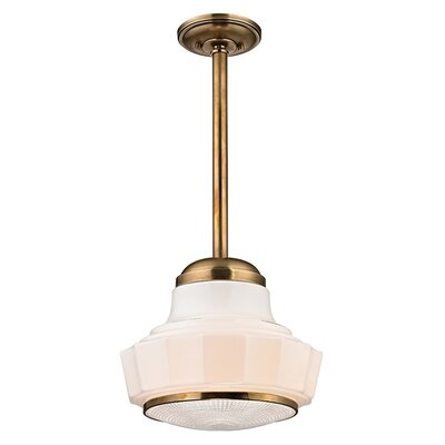 Kobe 1-Light Mini Pendant Finish: Aged Brass, Size: 66.75 H x 8.75 W
