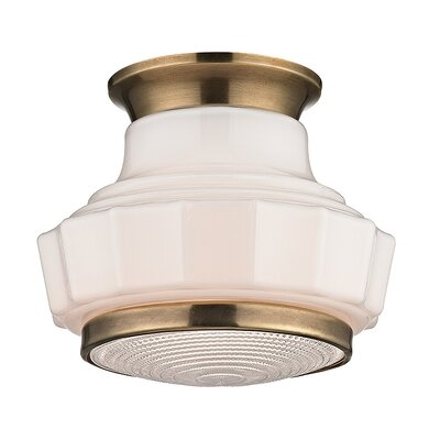 Kobe 1-Light Flush Mount Finish: Aged Brass