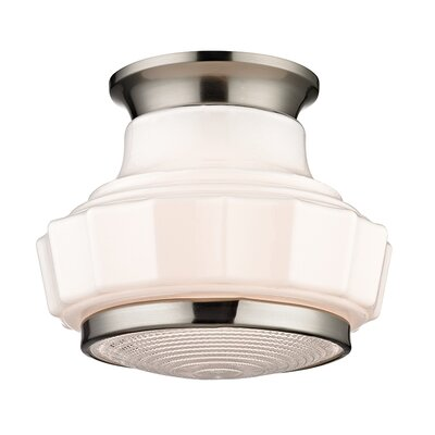 Odessa 1-Light Flush Mount Finish: Satin Nickel
