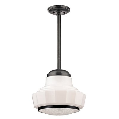 Kobe 1-Light Mini Pendant Size: 66.75 H x 8.75 W, Finish: Old Bronze