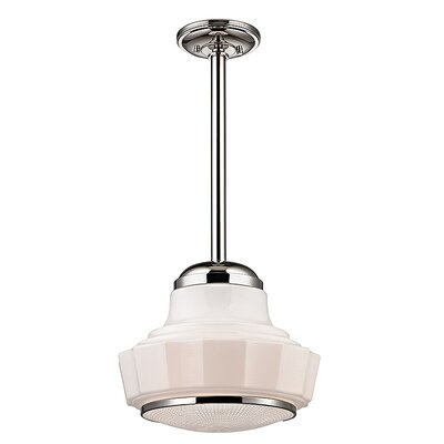 Kobe 1-Light Mini Pendant Finish: Polished Nickel, Size: 66.75 H x 8.75 W