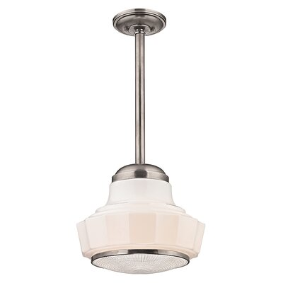 Kobe 1-Light Mini Pendant Finish: Satin Nickel, Size: 66.75 H x 8.75 W