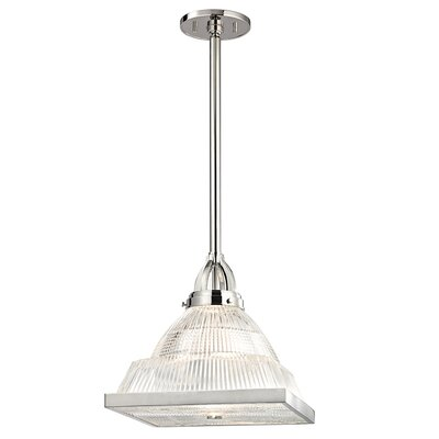 Alene 1-Light Glass Shade Mini Pendant Finish: Polished Nickel