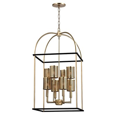 Corbin 8-Light Foyer Pendant Finish: Aged Brass