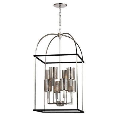 Corbin 8-Light Foyer Pendant Finish: Polished Nickel