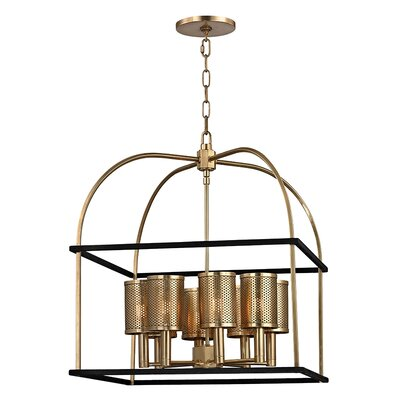 Corbin 8-Light Chandelier Finish: Aged Brass