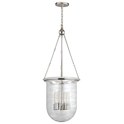 Carn 4-Light Foyer Pendant Finish: Polished Nickel