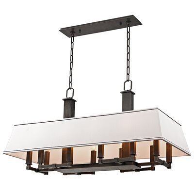 Hornberger 12-Light Kitchen Island Pendant Finish: Old Bronze