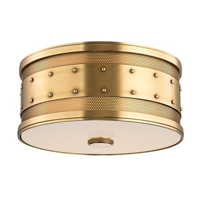 Gaines 2-Light Flush Mount Finish: Aged Brass