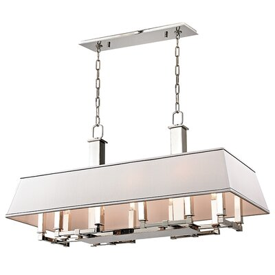 Hornberger 12-Light Kitchen Island Pendant Finish: Polished Nickel
