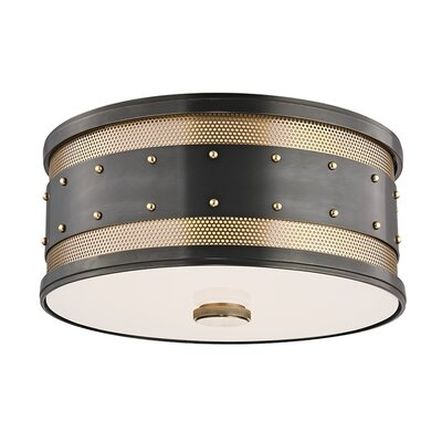 Gaines 2-Light Flush Mount Finish: Aged Old Bronze