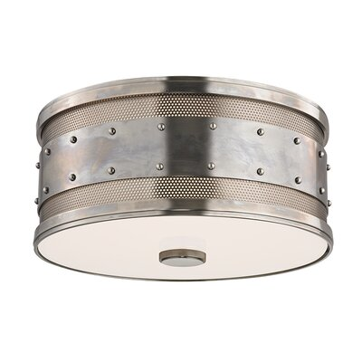 Gaines 2-Light Flush Mount Finish: Historic Nickel