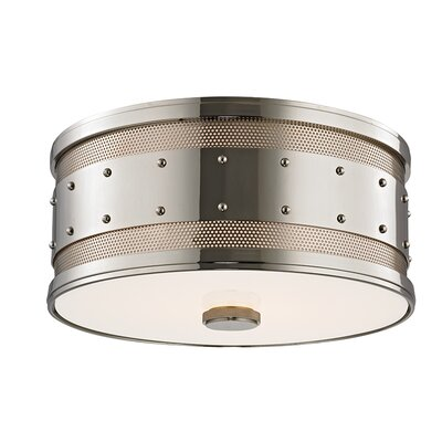 Gaines 2-Light Flush Mount Finish: Polished Nickel