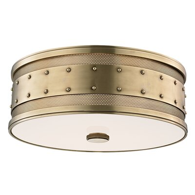 Gaines 3 -Light Flush Mount Finish: Aged Brass
