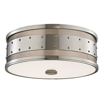 Gaines 3 -Light Flush Mount Finish: Polished Nickel