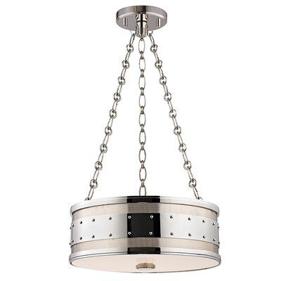 Gaines 3-Light Drum Pendant Finish: Polished Nickel