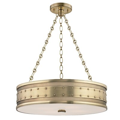 Gaines 4-Light Drum Pendant Finish: Aged Brass