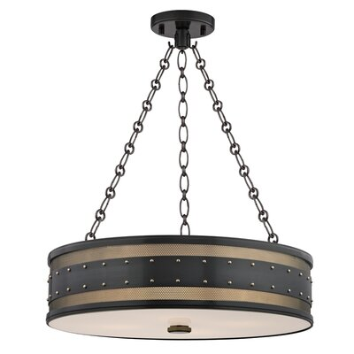 Gaines 4-Light Drum Pendant Finish: Aged Old Bronze