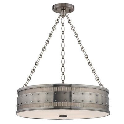 Gaines 4-Light Drum Pendant Finish: Historic Nickel