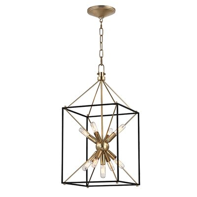 Stone 9-Light Foyer Pendant Finish: Aged Brass, Size: 24.75 H x 12.25 W x 12.25 D