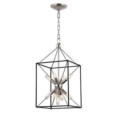Stone 9-Light Foyer Pendant Finish: Polished Nickel, Size: 24.75 H x 12.25 W x 12.25 D