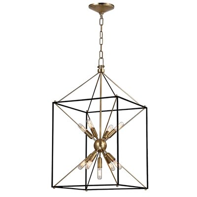 Stone 9-Light Foyer Pendant Finish: Aged Brass, Size: 30 H x 16.25 W x 16.25 D