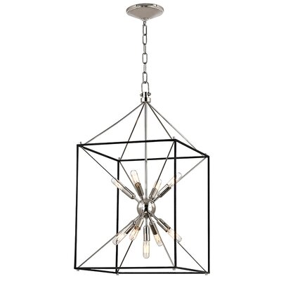 Stone 9-Light Foyer Pendant Finish: Polished Nickel, Size: 30 H x 16.25 W x 16.25 D