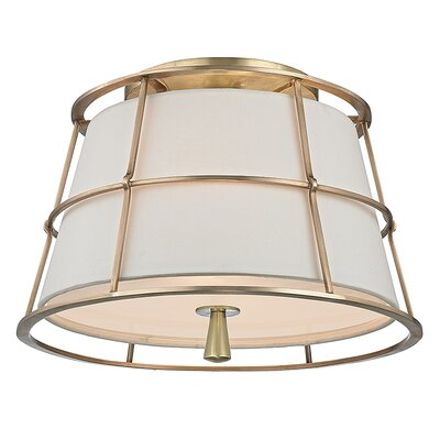 Savona 2-Light Semi Flush Mount Finish: Aged Brass