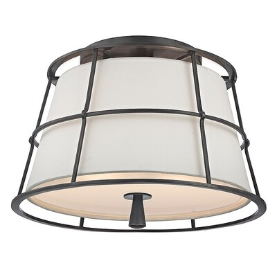 Arika 2-Light Semi Flush Mount Finish: Old Bronze