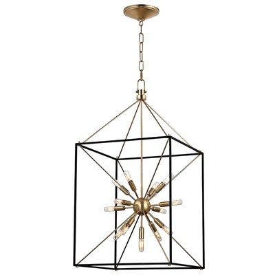 Stone 13-Light Foyer Pendant Finish: Aged Brass