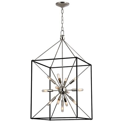 Stone 13-Light Foyer Pendant Finish: Polished Nickel