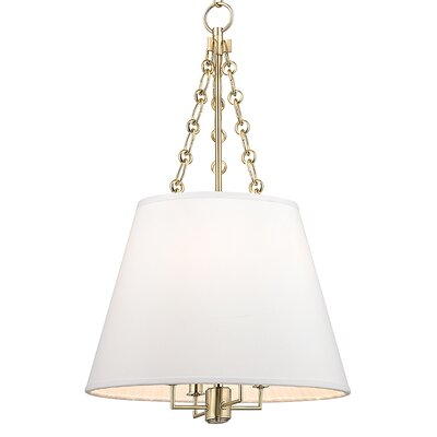 Burdett 4-Light Pendant Finish: Aged Brass